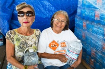 Water is life. Women come to collect water from a water charity in Porterville supplying bottled water to houses who have had no running water for over five months.