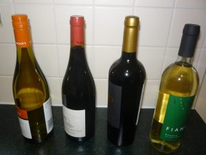 Wine Bottles - Burgundy and Bordeaux