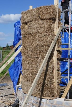 last bale is positioned