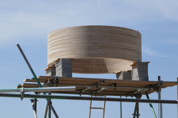 The ring beam is in place