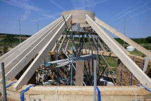 Rafters join the top and ring plates