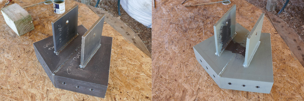 steel supports header