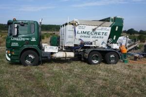 The limecrete arrives