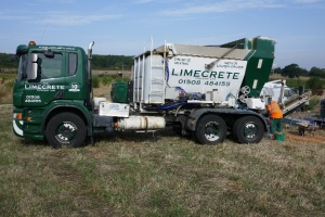 The limecrete arrives