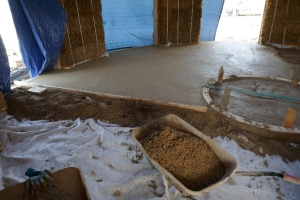 Laying the limecrete