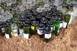 Bottles provide insulation