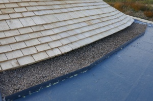 The gap with shingle