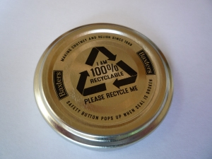 Baxters' jar lid - a perfect example of recycling marking?